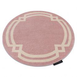 HAMPTON szőnyeg Lux kör rózsaszín