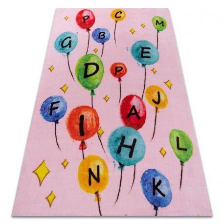 Szőnyeg PLAY léggömbök betűk ábécé G3548-3 rózsaszín