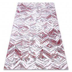 Akril DIZAYN szőnyeg 121 világos szürke / világos rózsaszín