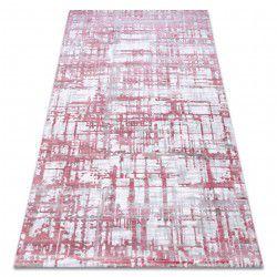 Akril DIZAYN szőnyeg 122 világos rózsaszín / világos szürke