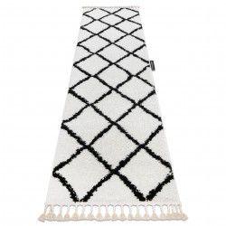 Szőnyeg, Futó szőnyegek BERBER CROSS fehér - a konyhához és a folyosóra