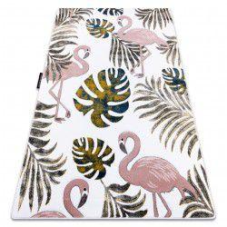 PETIT szőnyeg GARDEN Flamingók A MONSTERA LEVEL krém