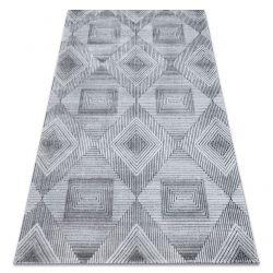 SIERRA szőnyeg Structural G5011 lapos szövött szürke / fekete - geometriai, gyémánt