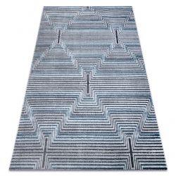 SIERRA szőnyeg Structural G5018 lapos szövött kék - szalagok, gyémánt