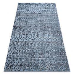 SIERRA szőnyeg Structural G6042 lapos szövött kék - geometriai, etnikai