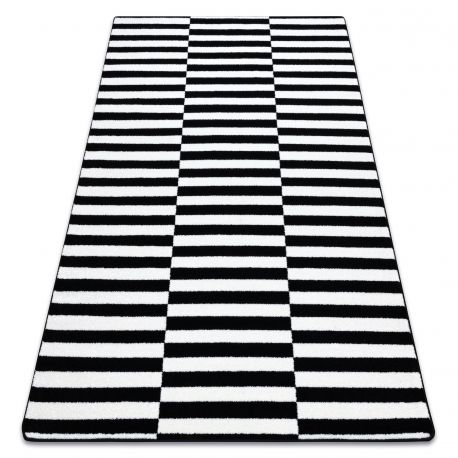 Sketch szőnyeg - F132 fehér/fekete- Csíkok