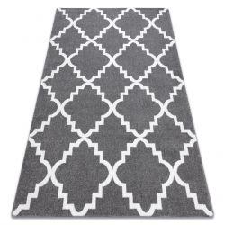 Sketch szőnyeg - F343 szürke / fehér Lóhere Marokkói Trellis