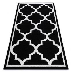 Sketch szőnyeg - F730 fehér/fekete Lóhere Marokkói Trellis