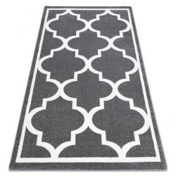 Sketch szőnyeg - F730 szürke / fehér Lóhere Marokkói Trellis
