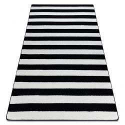 Sketch szőnyeg - F758 fehér/fekete- Csíkok