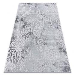 Modern MEFE szőnyeg 8724 Dísz vintage - Structural két szintű gyapjú szürke
