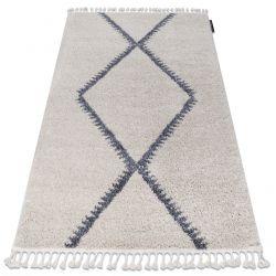 Szőnyeg Berber meknes B5910 krém / szürke Rojt shaggy bozontos