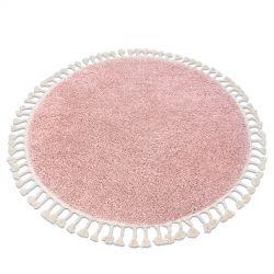 Szőnyeg BERBER 9000 kör rózsaszín Rojt shaggy
