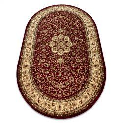 Royal szőnyeg ovális adr 521 bordó