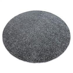 Modern, mosható szőnyeg ILDO 71181070 kör antracit szürke