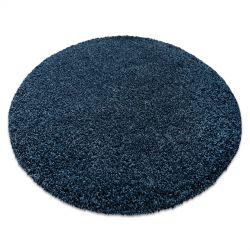 Modern, mosható szőnyeg ILDO 71181090 kör sötétkék