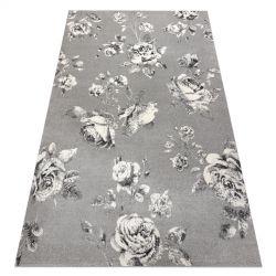 GNAB szőnyeg 60642653 Virágok rózsák szürke / fehér