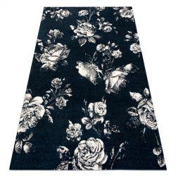 GNAB szőnyeg 60642734 Virágok rózsák sötétkék / fehér