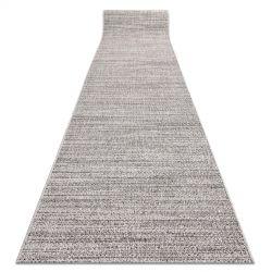 Sizal futó szőnyeg FLOORLUX minta 20389 ezüst / fekete
