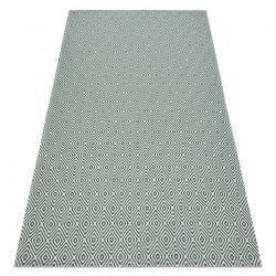 Fonott Sizal Eco szőnyeg boho CASA gyémánt 21844 sárga / zöld, újrahasznosított szőnyeg