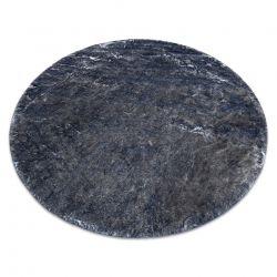 Modern LAPIN kör shaggy, mosószőnyeg, csúszásgátló elefántcsont / fekete