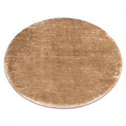 Modern LAPIN kör shaggy, mosószőnyeg, csúszásgátló elefántcsont / barna