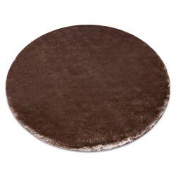 Modern LAPIN kör shaggy, mosószőnyeg, csúszásgátló elefántcsont / csokoládé