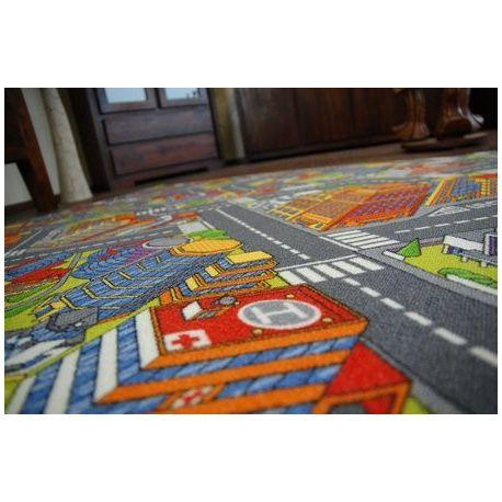 Utcák nagyváros szőnyegpadló szőnyeg szürke