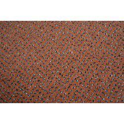 Velour szőnyegpadló szőnyeg TECHNO CSILLAG 140 terrakotta