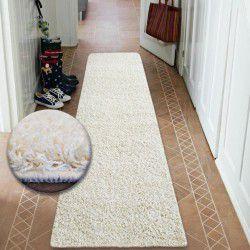 Shaggy futó szőnyeg 5cm krém