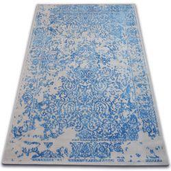 Vintage szőnyeg 22208/053 kék / szürke klasszikus rozetta