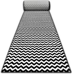 Sketch futó szőnyeg F561 fekete/krém - Cikcakk