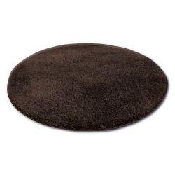 Shaggy szőnyeg kör micro barna