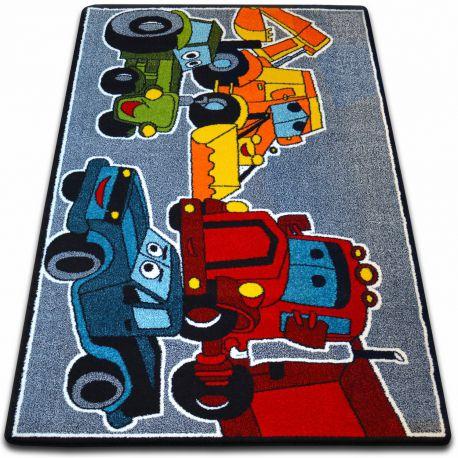 gyerekek szőnyeg Autók szürke C418