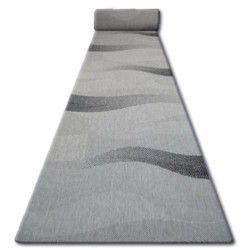 Sizal futó szőnyeg FLOORLUX minta 20212 ezüst / fekete