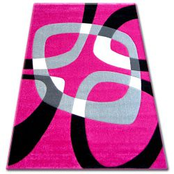 Pilly szőnyeg H203-8405 - fukszia/fekete