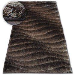 Shaggy szőnyeg space 3D B222 c.barna