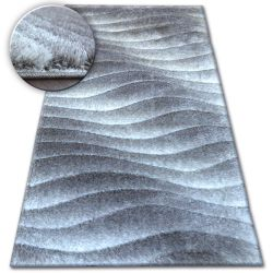Shaggy szőnyeg space 3D B222 szürke