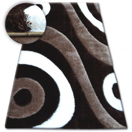 Shaggy szőnyeg space 3D B314 c.barna