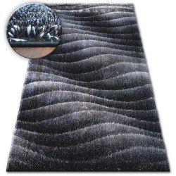 Shaggy szőnyeg space 3D B222 sötét szürke