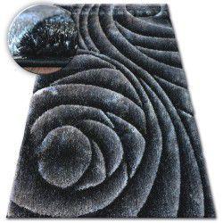 Shaggy szőnyeg space 3D B217 sötét szürke fekete