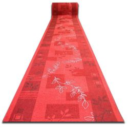 Csúszásgátló futó szőnyeg AGADIR piros