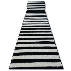 Sketch futó szőnyeg F758 krém/fekete - Csíkok
