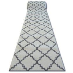 Sketch futó szőnyeg F343 fehér / szürke Lóhere Marokkói Trellis