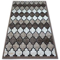 Akril yazz szőnyeg 3766 D.Bézs/Salmon Lóhere Marokkói Trellis