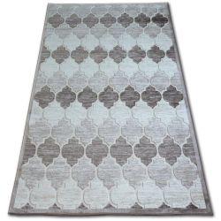 Akril yazz szőnyeg 3766 D.Bézs/Barna Lóhere Marokkói Trellis
